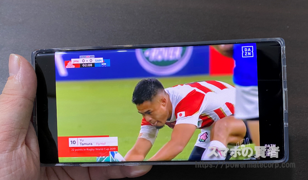 Galaxy Note10+ ラグビーワールドカップ